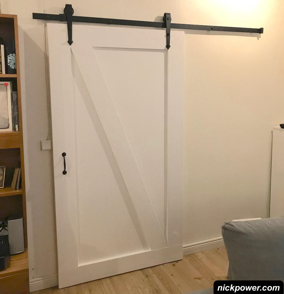 DIY Sliding Door – easy to do, instructions & plan.
